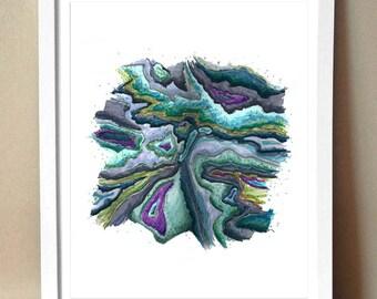 """Art Print - """"Agate"""" - Drawing of Agate - 8x10 Print"""