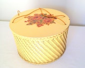 Vintage Wicker Sewing Basket Princess Algonquin Illinois Yellow Sewing Basket Spring