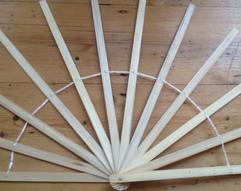 16 inch Burlesque Fan Staves