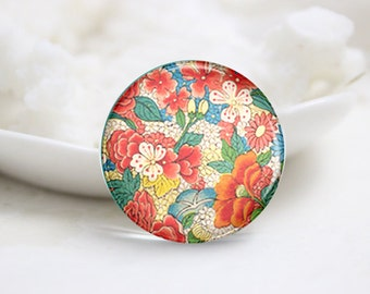 10mm 12mm 14mm 16mm 18mm 20mm 25mm 30mm Handmade Round Photo Glass Cabochons Domes-Flower (P2248)