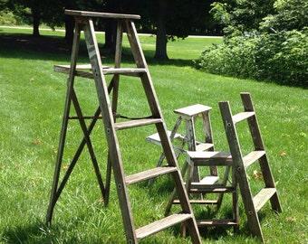 Vintage step ladder - Ladder plant stand plans ...