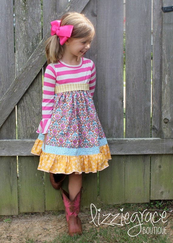 Cosette S Knit And Woven Dress Pdf Pattern Sizes 2t To 8