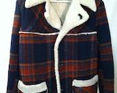 Vintage Wool Winter Coat Men's