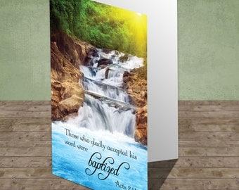 Scriptural Greeting Card - Baptism