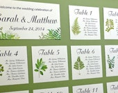 Seating Charts, Table Seating Assignment Cards, Seating Information, Guest Seating Charts