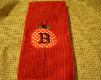 Thanksgiving/Fall Embroidered Monogrammed Hand Towel