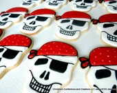 Large Skull Pirate Cookie Favors for Pirate Party or Halloween