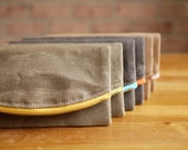 Waxed Canvas Vegan Phone Zipper Wallet Card Clutch