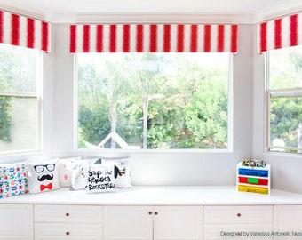 Custom Bay Window Treatment: Cornice, Pelmet, Valence Box - You Choose the Colors