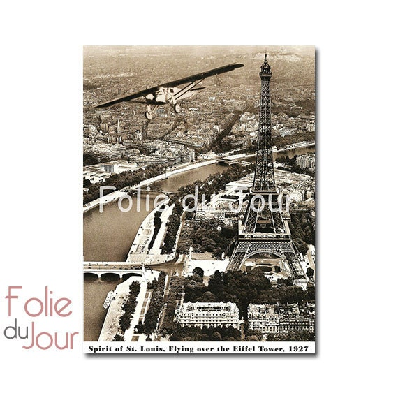 Luxury Airplane Over Eiffel Tower : Unavailable listing on etsy