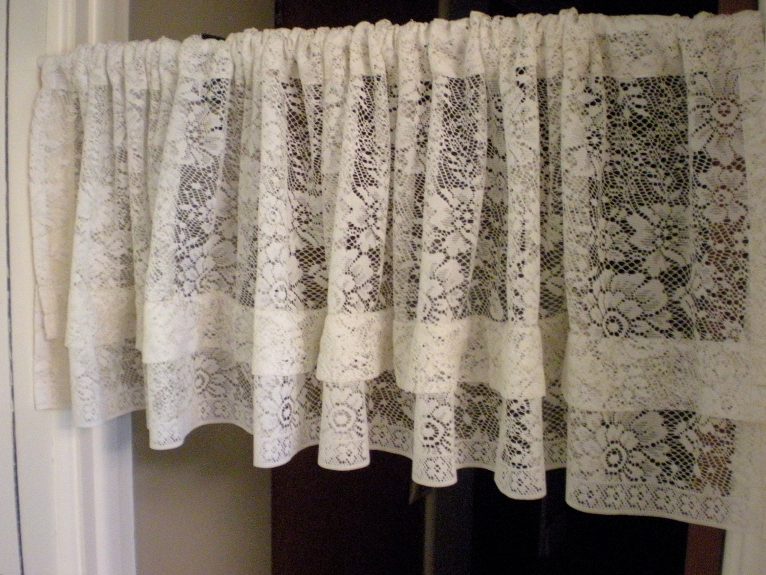 vintage lace curtains valances victorian set of 4