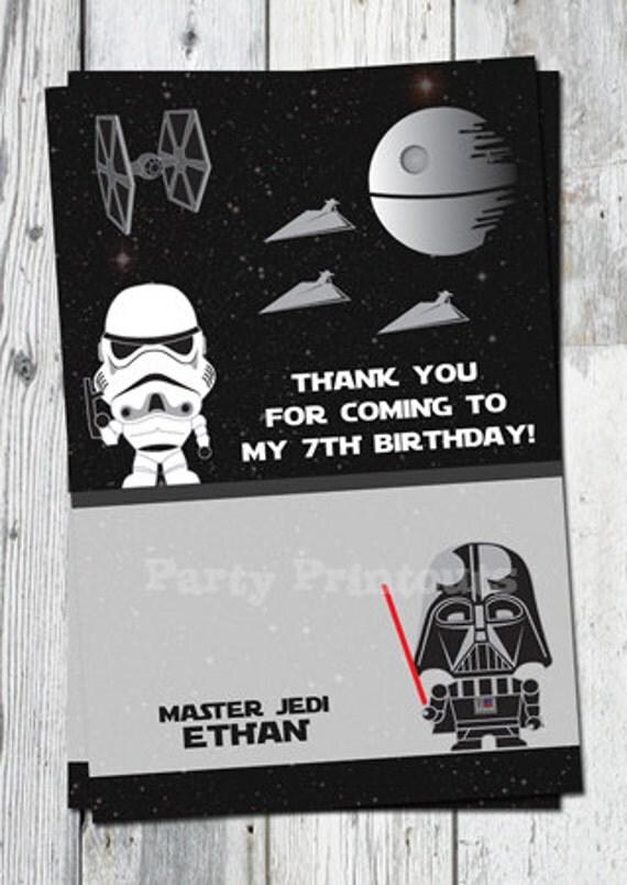 Carte De Remerciement Imprimable Star Wars De Dark Vador Et