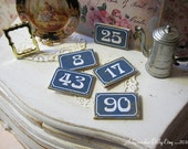 Custom French Style House Numbers for Dollhouse