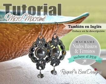 Micro Macrame Esquema Digital En ESPAñOL / Aretes Bubbly Tear Drops