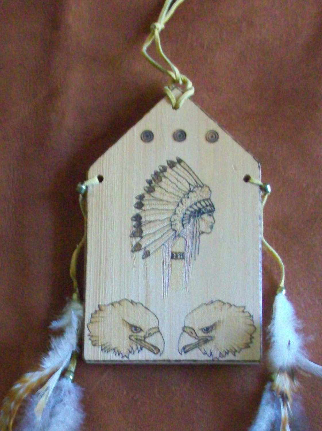 Handmade native american wall decor art chief with by for Native kitchen designs and decors photos