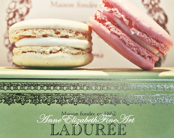 Macaron, Macarons,Macaroons, Laduree, Food Photography,Mint Green,Fashion,Kitchen Art,Pastel,Pink Print,Sweets,Bakery,Pastry,Bedroom,Nursery