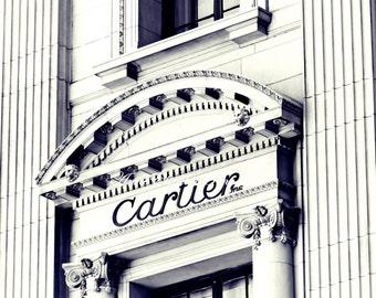 Cartier Wall Art, Fashionista,Dorm Decor,Boutique Sign,Fashion Photography,New York Print ,Paris Designer, Black & White,Nursery Art,5th Ave