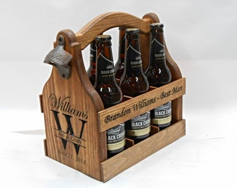 Personalized Beer Carrier Beer Tote handmade 5th