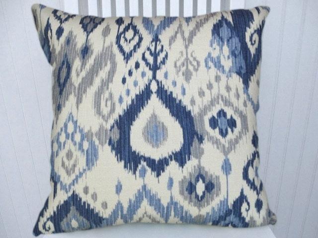 Greyish Blue Throw Pillows : Blue Grey Pillow CoverCotton Decorative Pillow Designer
