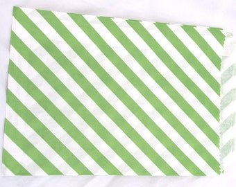 Green Paper Bags-medium sized-party favors--gifts---weddings--showers--24ct