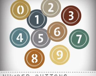 Hero Arts Number Buttons DK012 Instant Download