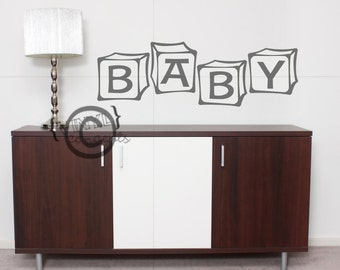 Baby in Blocks- Vinyl Wall Art