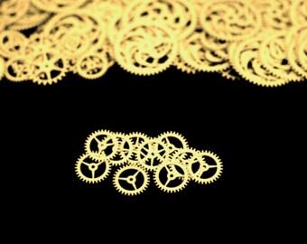 BrassSteampunk Gears, Steampunk Accessories, Steampunk Craft Jewelry Supply -10qty - 3/4 Inch (19.05mm) Gears. Designer Special