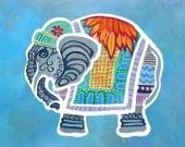 "16"" x 24"" Baby Thai Elephant II/ Fine Art Print/ Giclee on Canvas"