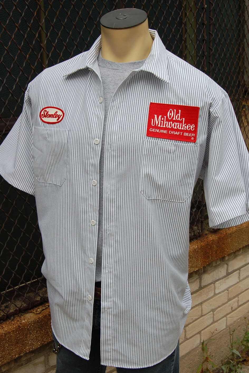 Old Milwaukee Beer Work Shirt Stanley Delivery