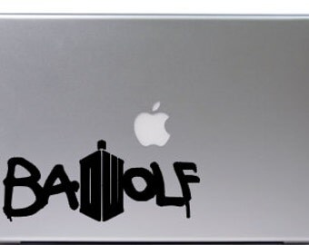 Bad Wolf Doctor Who inspired macbook decal