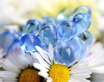 Teardrops -  Periwinkle Blue - Czech Glass beads, drops - 6x9mm - 20pc - 1138