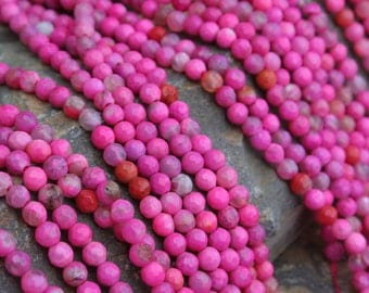 Natural Agate 5mm Exotic Color Faceted Round Beads Strand(Color Treated), 16-Inch Strand G01206