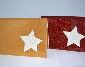 Star Glitter Vinyl Billfold Wallet