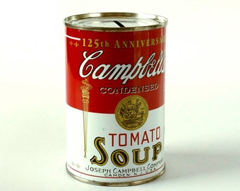 Campbells Soup Can Bank, Andy Warhol Art Object, 1990s