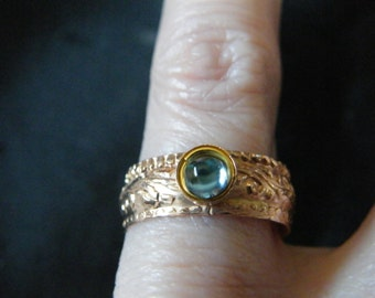 Blue Topaz Rings! Sky Blue Topaz, Gold Filled, Ornate Band Rings! December Birthstone, Bride's Maid Gifts, Birthday Gift, Holiday Gift