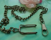 one pcs 37cm antique bronze clip chain belt chains cowboys chains for pocket watch locket pendants pockets watches