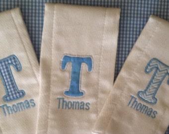 3 Personalized Burp Cloth's