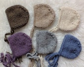 Newborn Hat, Classic Bonnet, Newborn Bonnet, Oatmeal, Blue, Grey, Brown, Choose Your Color, Photo Prop