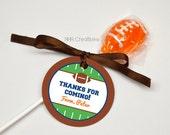 Personalized Football Favor Tag - DIY Printable Digital File