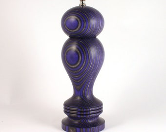 Pepper Mill, 8 Inch Purple and Black Haynes, Pepper Grinder, Peppermill, Spice Grinder, Purple and Black, Lavender and Black