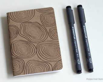 Single Mini Notebook, Rings Design