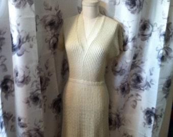 Mod and retro knit dress