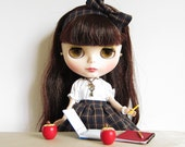 Miniature Apple for Blythe & Pullip Dolls Wooden Hand Painted Red Apple Prop