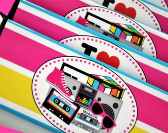 I Love The 80's Hershey Bar Wrappers - Printable - GLAMOROUS SWEET EVENTS
