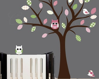 Childrens wall decals vinyl decal patterned tree vinyl wall art decal - 0064
