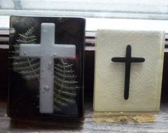 2 Vintage  Religious Artist made Resin Paper weights