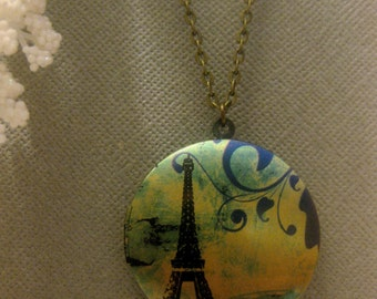 Paris Locket - Eiffel Tower Necklace