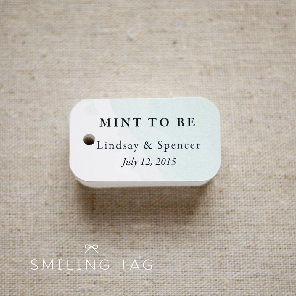 Minted Wedding Gift Tags : Mint To Be Wedding Favor Tags Personalized Gift by SmilingTag