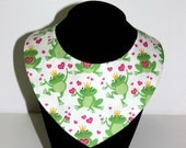 Valentines Frogs and Hearts Reversible Dog / Pet Bandanas