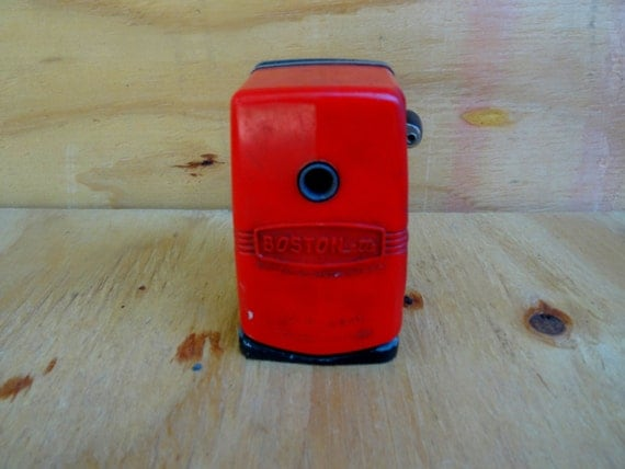 Vintage red pencil sharpener urban decay school house office supplies